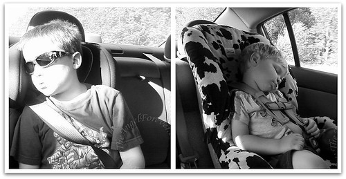 Tired boys after The Great Escape
