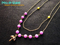 Umbrella Charm Necklace (Peu de Chose) Tags: yellow necklace purple young jewelry charm casual hip pendant vividcolor popcandy highlydetailed doublechain brightcolornew