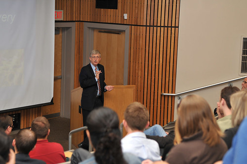 Francis Collins and postdocs