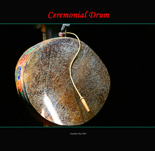 Single-Headed Drum, K.Gompa, Ladakh, Jammu & Kashmir, India - 02.09