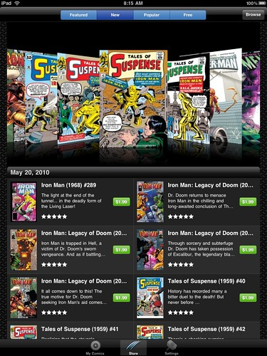 Marvel Digital Comic Store