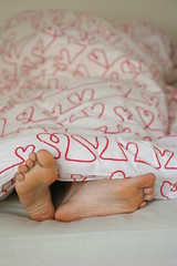 five minutes more (Maronasc) Tags: feet hearts bed selfie
