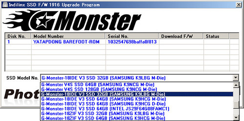 G-Monster 1.8 IDE V3: Selecting firmware