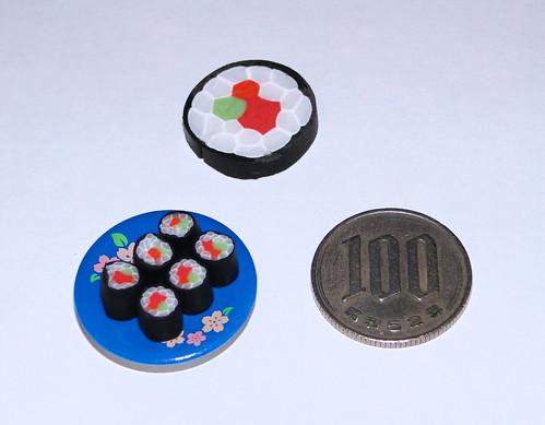 Maki sushi + cane