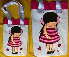 (alterna ) Tags: original mujer colores nia natalia boba nias diseo pintura 2010 tela bolsos caceres alterna alternativa superboba alternaboba