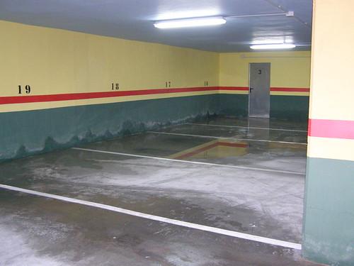 Garaje inundado