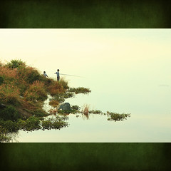 Tranquillity (-clicking-) Tags: life lake reflection love nature water grass landscape fishing peace place natural peaceful tranquility vietnam infinestyle hầmđá