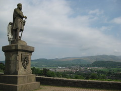 Statue of Robert the Bruce outside of Stirling Castle