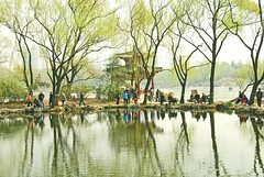 City park, in the spring (faungg's photos) Tags: china park city travel trees reflection water spring pond scenery view beijing pavilion 北京 风景 179 树 公园 春 湖 倒影 zizhuyuan 水面 紫竹院 游人 スプリング