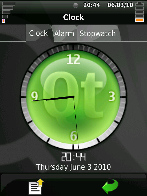 Clock on QtMoko