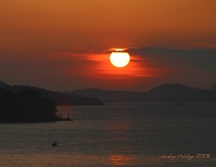 "Sunset in Croatia over the Adriatic Sea (Joalhi ""Back in Miami"") Tags: sunset red sea yellow croatia dubrovnic fjords adriatic"