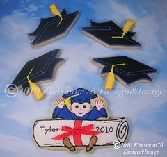 Graduation Cookies (kimsmom76(Susan)) Tags: cookies diploma designer unique graduation graduate custom 2010 handcut kimsmom decoratedcookie cookiefavors graduationcookies sweetscenes kimsmom76