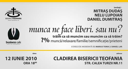 Business Cafe @ Biserica Batistă Teofania: echilibrul dintre muncă și viața personală