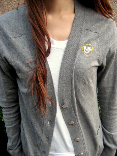 Gray cotton cardigan from MARC BY MARC JACOBS