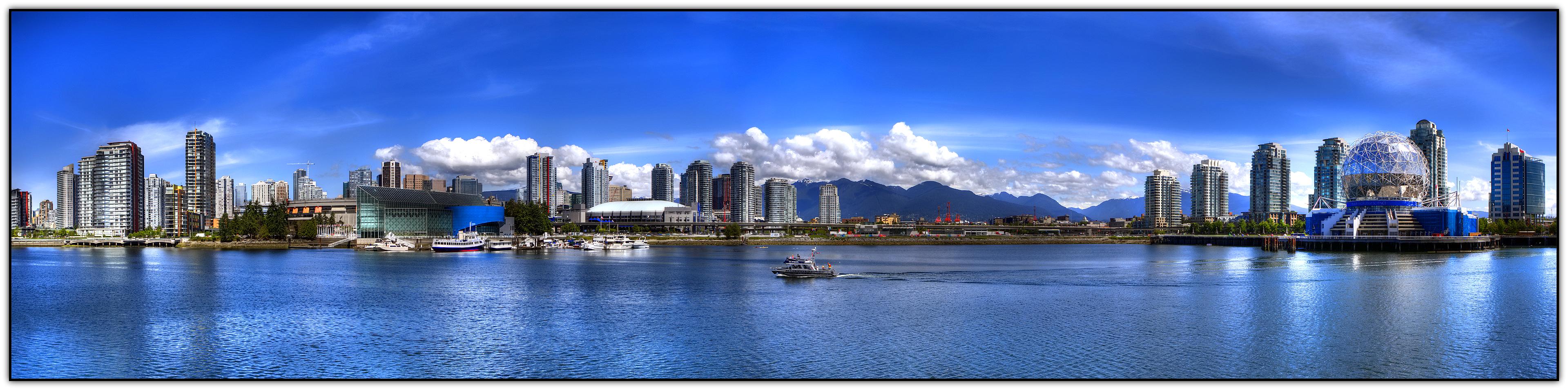 vancouver skyline panoramic