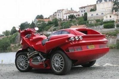 Faux Ferrari Sidecar
