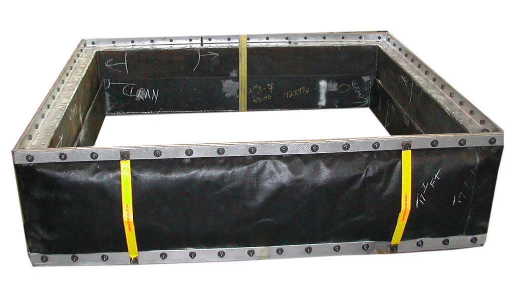 "78"" x 39"" Rectangular Fabric Expansion Joint for a Power Company in Texas"