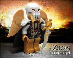 Zaras, the Forged Angel (Morgan190) Tags: angel skull flying fighter lego minifig forge custom angelic forged m19 minifigure morgan19