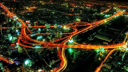 [フリー画像] 建築・建造物, 都市・街, 道路, 夜景, HDR, 201007271700