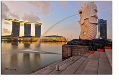 Merlion Park Sunrise 12June2010 ( Bryan aka Numnumball ~**) Tags: park one nikon singapore long exposure tripod fullerton merlion nd8 n400 d700 mbd10 afs2470f28 afs1635f4vr