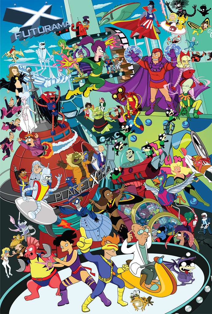 Futurama_X_Men_Meld_by_gottabecarl