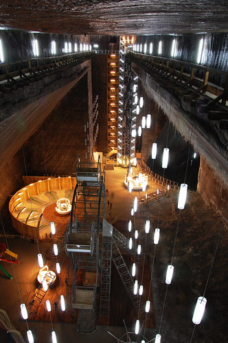 Turda Salt Mine - Rudolf Mine seen from above