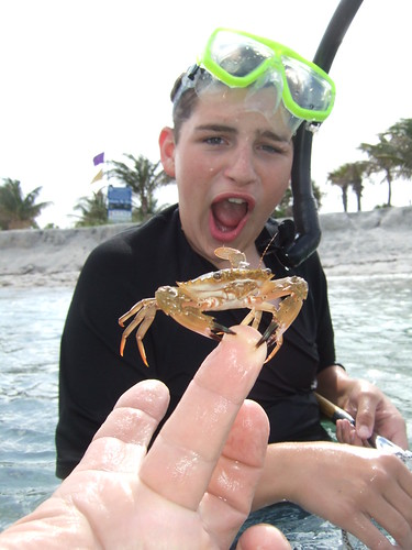 AdventureMike catches a nice crab!
