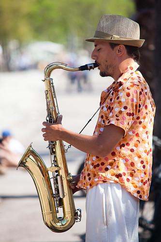 Barcelone - Saxophoniste