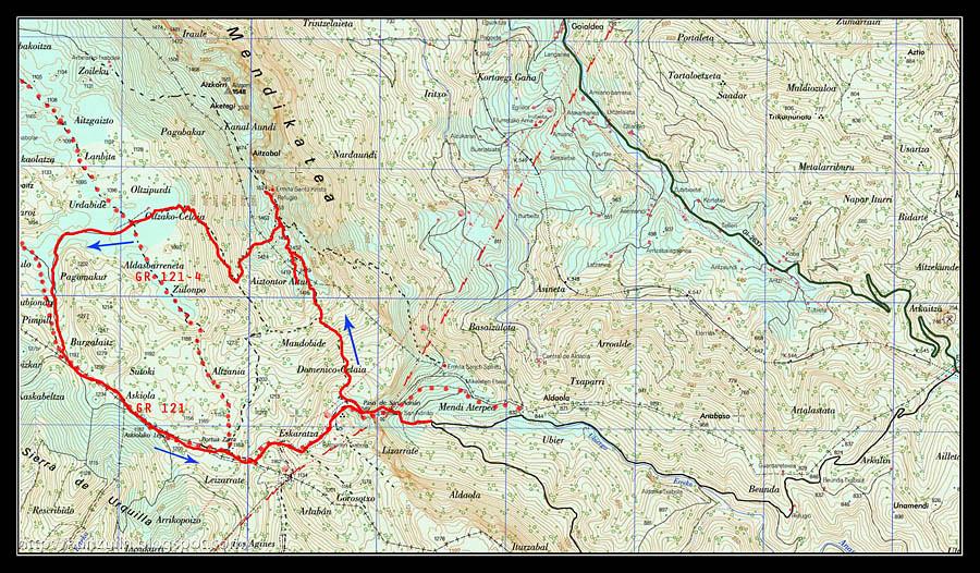 Mapa Aizgorri peq