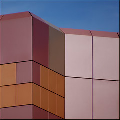 (fourcotts) Tags: pink blue sky orange abstract wall architecture square reading pentax berkshire k7 500x500 bsquare apexplaza superaplus aplusphoto pentaxart forcotts