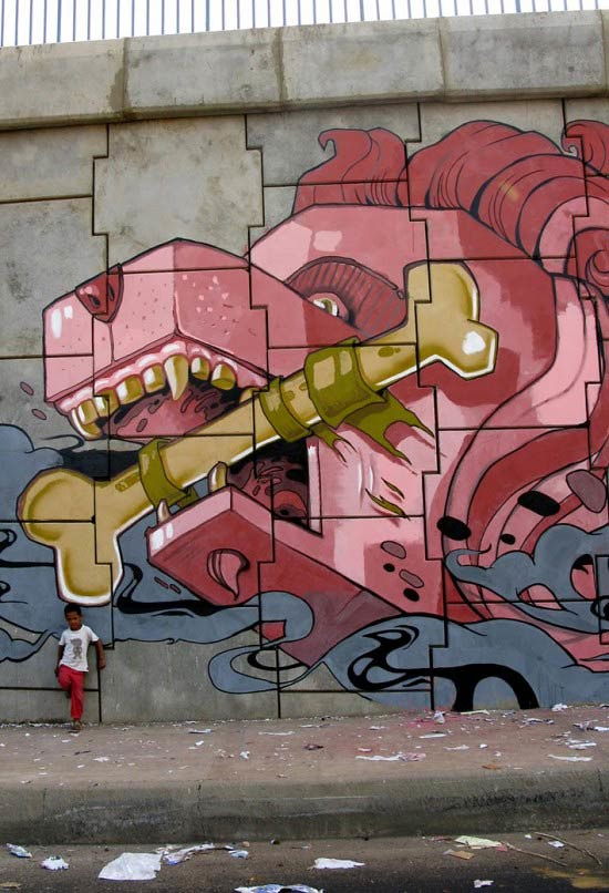 graffiti en Barcelona
