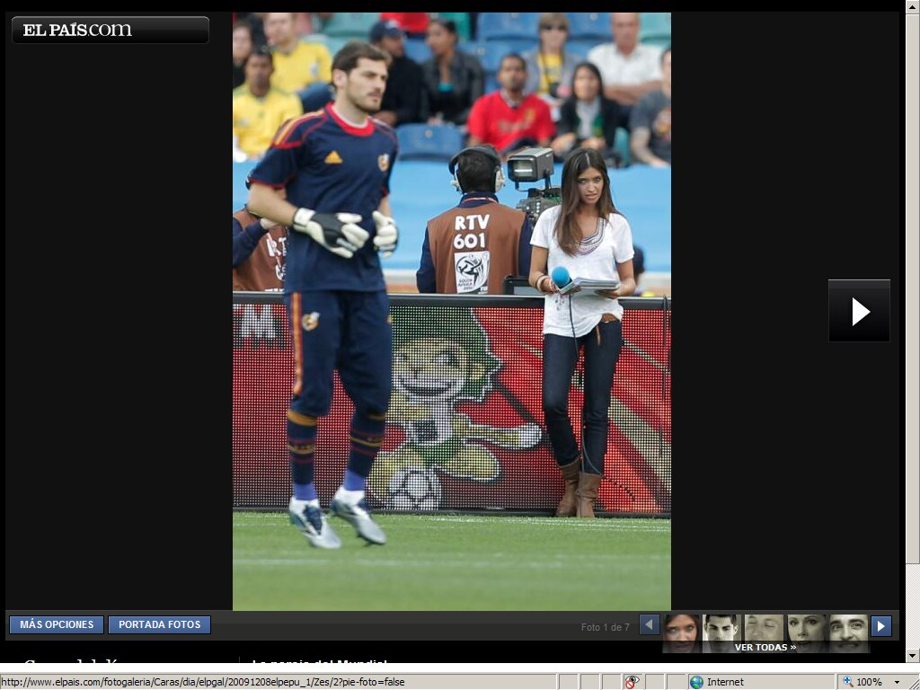 Casillas y Sara Carbonero, love is in the playground height=768