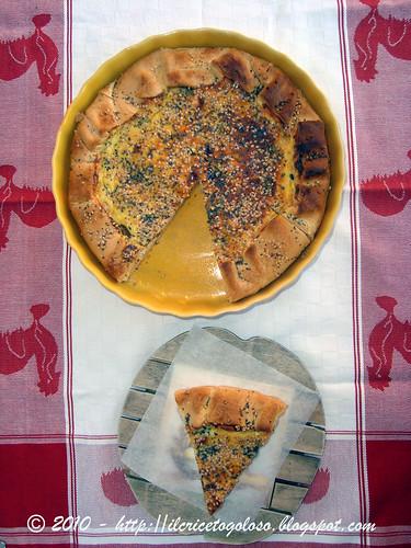 Torta salata prosciutto, funghi e ricotta (1)