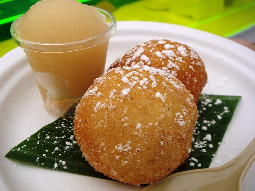 Asia de Cuba - Mexican Doughnuts with Butterscotch Sauce and Frozen Mojito