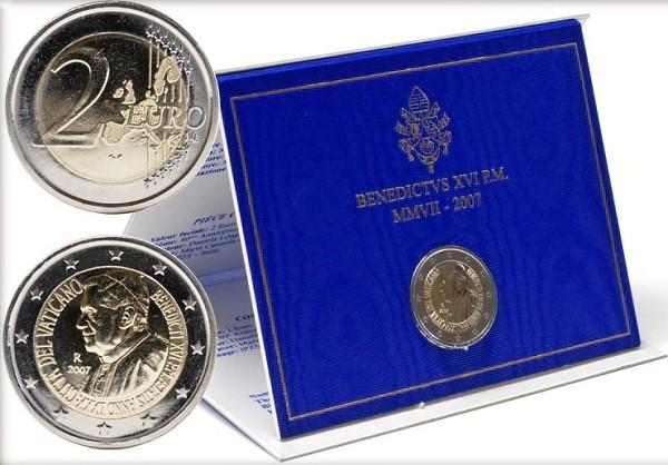 Oficiálne balenie 2 Euro Vatikán 2007, Benedikt XVI.