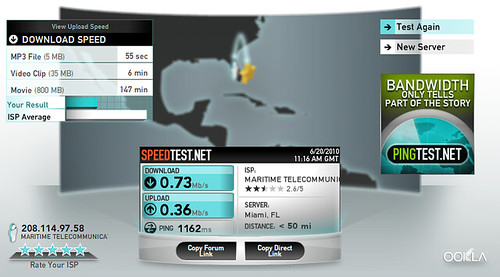 Internet Speed Test, NCL Norwegian Sky