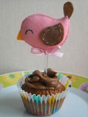 Cupcake Toppers (Nanistore) Tags: birthday chocolate sunday felt cupcake feltro aniversrio enfeite bolinho cupcaketoppers nanistore