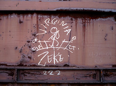 Virginia Zeke (***Outside The Box***) Tags: railroad train graffiti virginia tag railcar boxcar zeke railways hobo railfan freight hobos monikers moniker benching