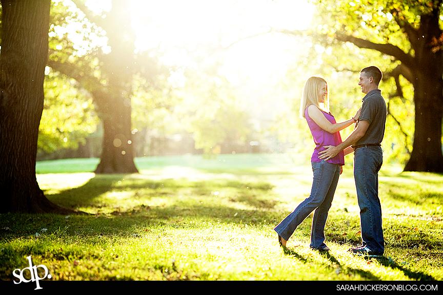 engagement photographs, Loose Park, Kansas City Missouri