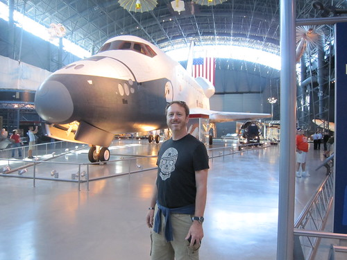 Tim and the Space Shuttle Enterprise at the Smithsonian. (10/12/2010)