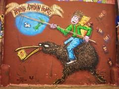 Bring Adrian Home (Airborne Mark) Tags: london tunnel kiwi newzeland marmite thepilot leakestreet airbornemark