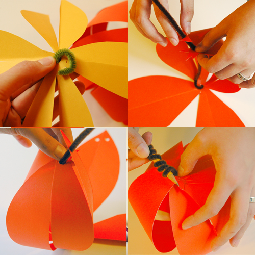 How to Make Easy Paper Pumpkins (step 4) by Brenda Ponnay for Alphamom.com