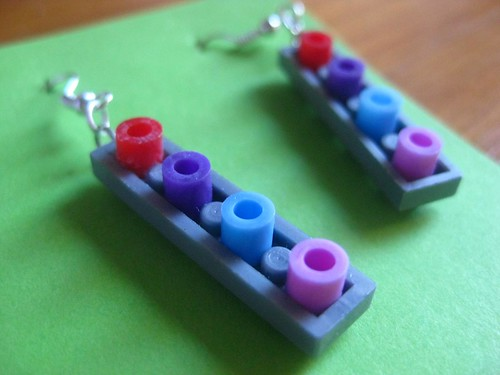 reverse lego earrings