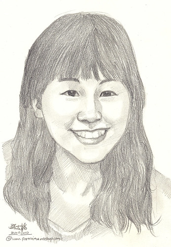 lady portrait in pencil 20102010