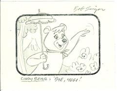 BOB SINGER Original Animation Drawing CINDY BEAR HBS (Nemo Academy) Tags: original hanna drawing barbera
