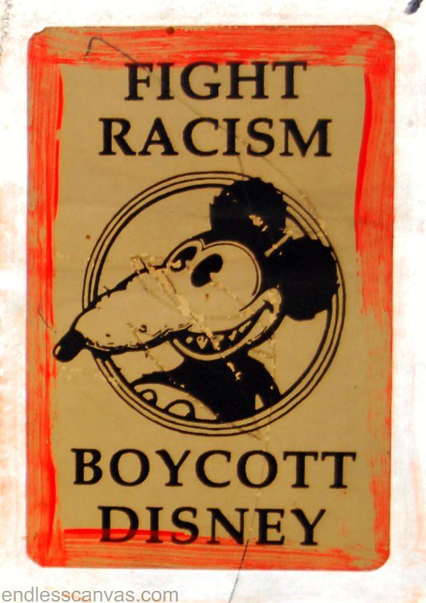 Old School Anti Disney Sticker in Los Angeles.