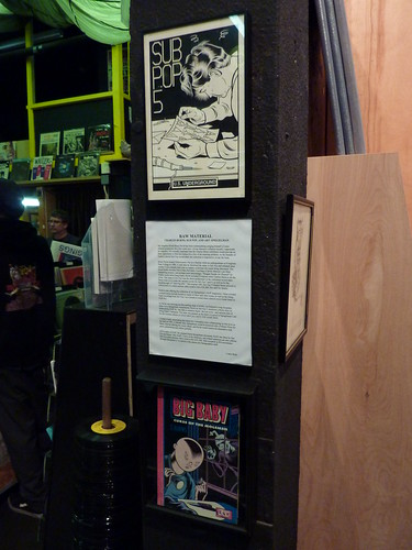 Charles Burns at Fantagraphics Bookstore & Gallery, Oct. 30, 2010 - RAW display