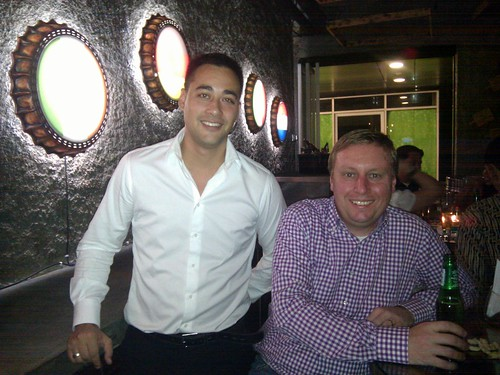 Romeo Reijman and Marc at Bloeming in Jakarta after SparxUp pitches
