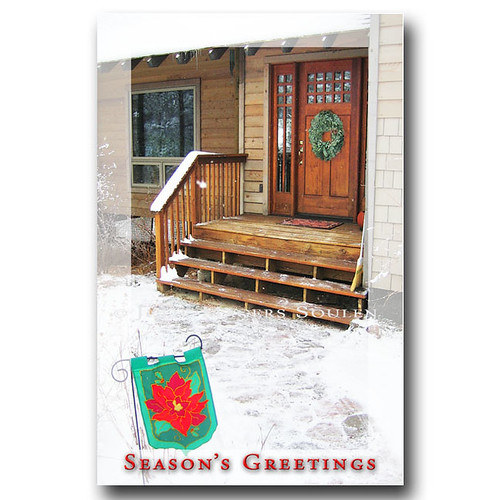 Holiday Door Holiday Christmas Card