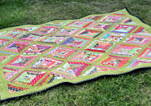 Beehive quilt - on grass
